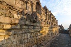 Borobudur temple corridors Stock Image