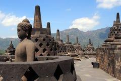 borobudur temple dłoni Zdjęcie Royalty Free