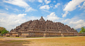 Borobudur temple in Indonesia Royalty Free Stock Images