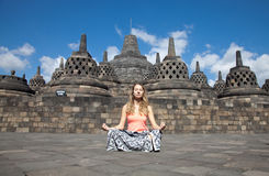 Borobudur Temple Indonesia. Borobudur temple located close to Yogyakarta in Java Indonesia Stock Photos