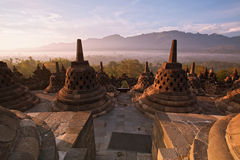 Borobudur Temple Indonesia. Borobudur Temple Morning  Sunrise in Yogyakarta, Java, Indonesia Royalty Free Stock Photography