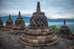Borobudur Temple, Indonesia. Royalty Free Stock Photography