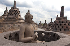 Borobudur temple in Indonesia Stock Photography