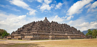 Borobudur temple in Indonesia. Borobudur temple near Yogyakarta on Java island, Indonesia Stock Photo