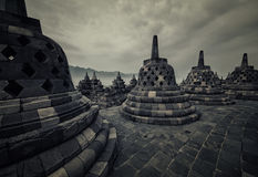 Borobudur temple in Java Royalty Free Stock Photography