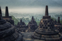 Borobudur temple in Java Royalty Free Stock Photos