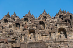 Borobudur temple, Java, Indonesia Royalty Free Stock Images