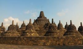 Borobudur Temple, Java island, Indonesia. Borobudur is a old buddhism temple in indonesia on the island java Stock Photo