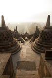 Borobudur Temple, Java island, Indonesia. Borobudur is a old buddhism temple in indonesia on the island java Royalty Free Stock Image