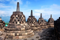 Borobudur temple in Jogjakarta Royalty Free Stock Photography