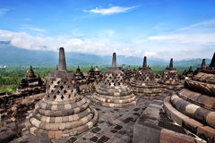 Borobudur temple in Jogjakarta Royalty Free Stock Photo