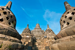 Borobudur temple located close to Jogjakarta Royalty Free Stock Images