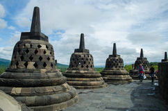 Borobudur temple. In the Magelang city of Indonesia Stock Image