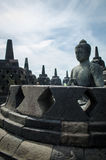 Borobudur temple. In the Magelang city of Indonesia Stock Photos