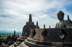 Borobudur temple. In the Magelang city of Indonesia Stock Photo