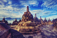 Borobudur Temple. A Morning in Borobudur Temple Stock Images