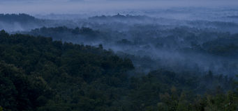 Borobudur temple in the morning Royalty Free Stock Image