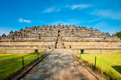 Borobudur temple near Yogyakarta Royalty Free Stock Images
