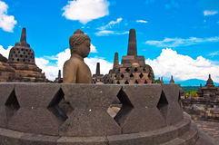 Borobudur temple near Yogyakarta Stock Photos