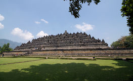 Borobudur temple a pyramidal base with five concentric square. Terraces with a monumental stupa at the top, Java, Indonesia Royalty Free Stock Images