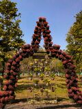 Borobudur temple shaped flower wreath