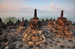 Borobudur Temple Stupa Jogjakarta Stock Photos
