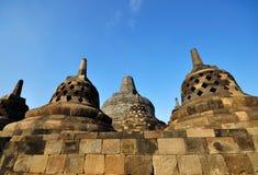 Borobudur Temple Stupas. Borobudur is a famous Buddhist temple in yogjakarta indonesia Stock Image