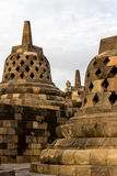 Borobudur temple stupas, Java, Indonesia Royalty Free Stock Photography