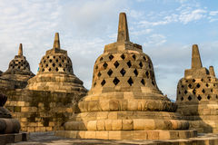Borobudur temple stupas, Java island, Indonesia Royalty Free Stock Photo