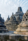 Borobudur temple stupas, Java island, Indonesia Stock Photos