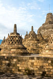 Borobudur temple stupas, Java island, Indonesia Royalty Free Stock Image