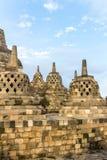 Borobudur temple stupas, Java island, Indonesia Royalty Free Stock Images