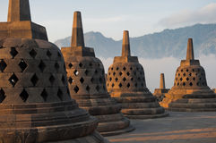 Borobudur Temple at sunrise Royalty Free Stock Photo