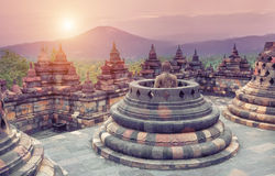 Borobudur Temple. At sunrise.Java.Indonesia