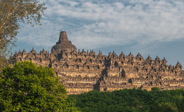 Borobudur temple at sunrise, Java, Indonesia Royalty Free Stock Photography