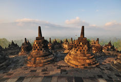 Borobudur Temple Sunrise Royalty Free Stock Photos