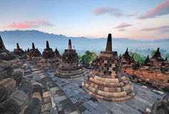 Borobudur Temple Sunrise Stock Image