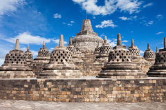 Borobudur Temple. Borobudur is a 9th-century Mahayana Buddhist Temple in Magelang, Central Java, Indonesia Stock Image