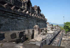 Borobudur Temple, Yogyakarta, Indonesia. Royalty Free Stock Photo