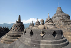 Borobudur Temple, Yogyakarta, Indonesia. Royalty Free Stock Images