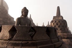 Borobudur Temple. Yogyakarta, Java, Indonesia. Royalty Free Stock Photography