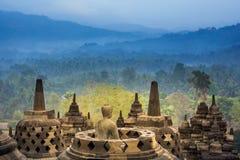Borobudur Temple, Yogyakarta, Java, Indonesia. Royalty Free Stock Photos