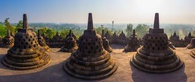 Borobudur Temple, Yogyakarta, Java, Indonesia. Royalty Free Stock Photography