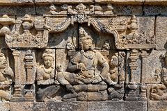Borobudur temple in Yogyakarta, Java, Indonesia. Borobudur is a 9th-century Mahayana Buddhist temple in Magelang, Central Java, Indonesia, and the world`s Stock Photos
