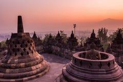 Borobudur Temple, Yogyakarta, Java, Indonesia. Borobudur Temple at twilight time, Yogyakarta, Java, Indonesia Royalty Free Stock Images