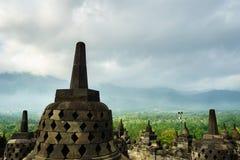 Borobudur temple in Yogyakarta, Java, Indonesia. View of Borobudur temple in Yogyakarta, Java, Indonesia Royalty Free Stock Photos