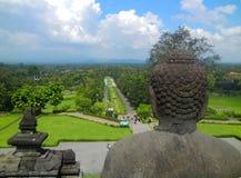 Borobudur temple, Yogyakarta, Java, Indonesia. The world`s largest Buddhist temple Stock Photos