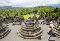 Jakarta, Indonesia, Borobudur Temple. stock photo