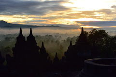 Borobudur, a 9th century Buddhist Temple in Magelang, Central Java Royalty Free Stock Images