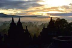 Borobudur, un temple bouddhiste du 9ème siècle dans Magelang, Java-Centrale Images libres de droits